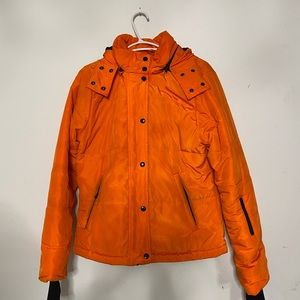 Neon forever 21 puffer jacket